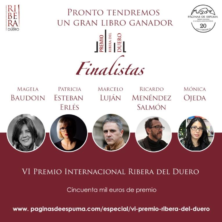 Anuncio oficial de los finalistas de la sexta edición del Ribera del Duero.