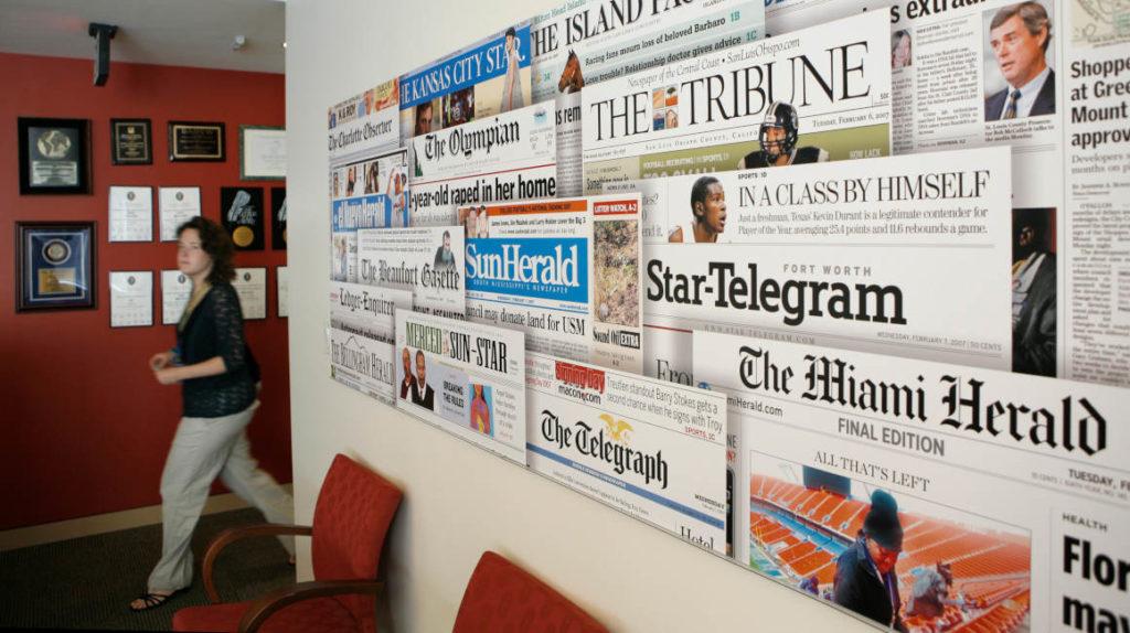 Empresa dueña del Miami Herald se declara en bancarrota