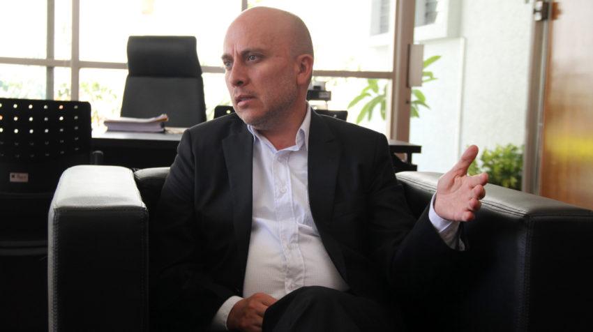 El viceministro de Gobernabilidad, Felipe Abril, en entrevista con PRIMICIAS, el 11 de febrero de 2020.