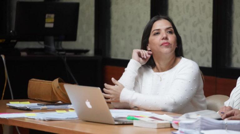 La exvicepresidenta, María Alejandra Vicuña