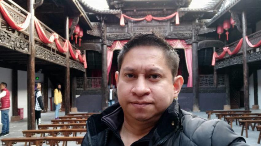 Marcelo Toalombo en Wuhan.