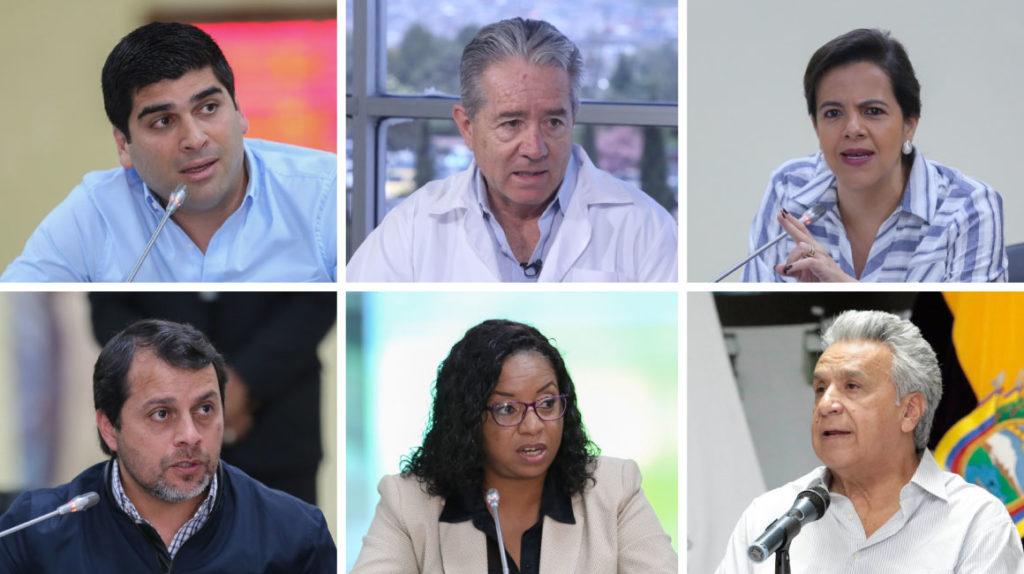 Los seis rostros más visibles del Gobierno durante la emergencia