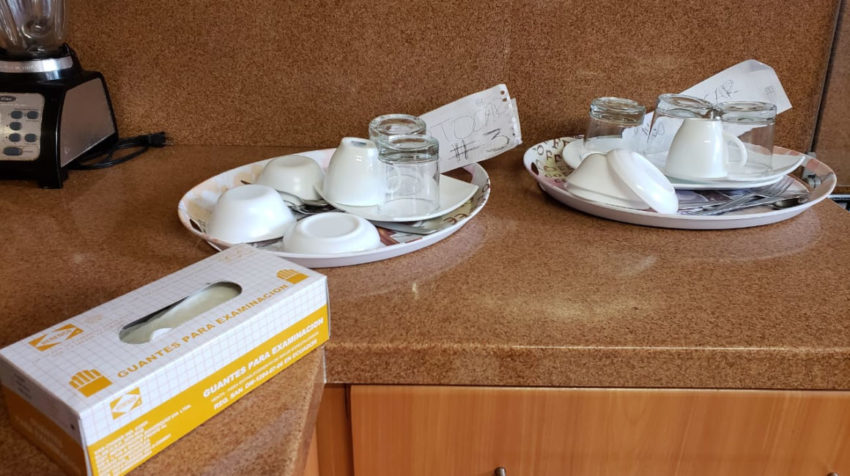 El Escalón atiende a personas en cuarentena por lo que se aplican medidas de higiene del Ministerio de Salud.