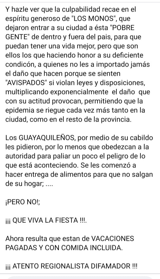 Texto de Melvin Hoyos, parte tres.