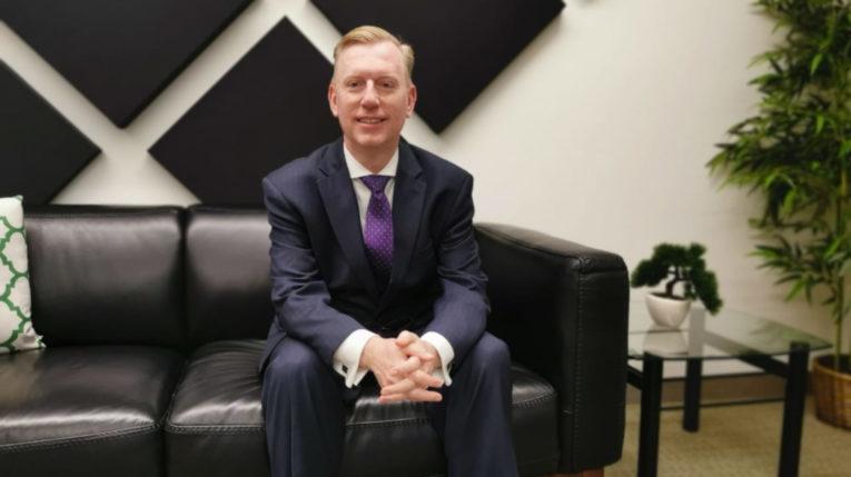El embajador de Estados Unidos en Ecuador, Michael Fitzpatrick, el 12 de marzo de 2020.