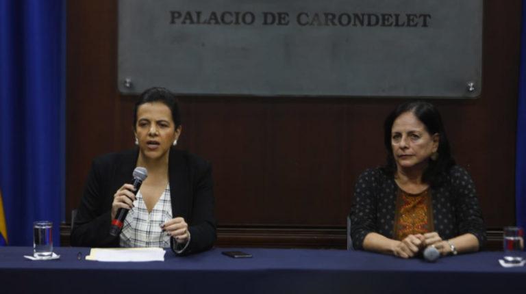 María Paula Romo y Monserrate Creamer