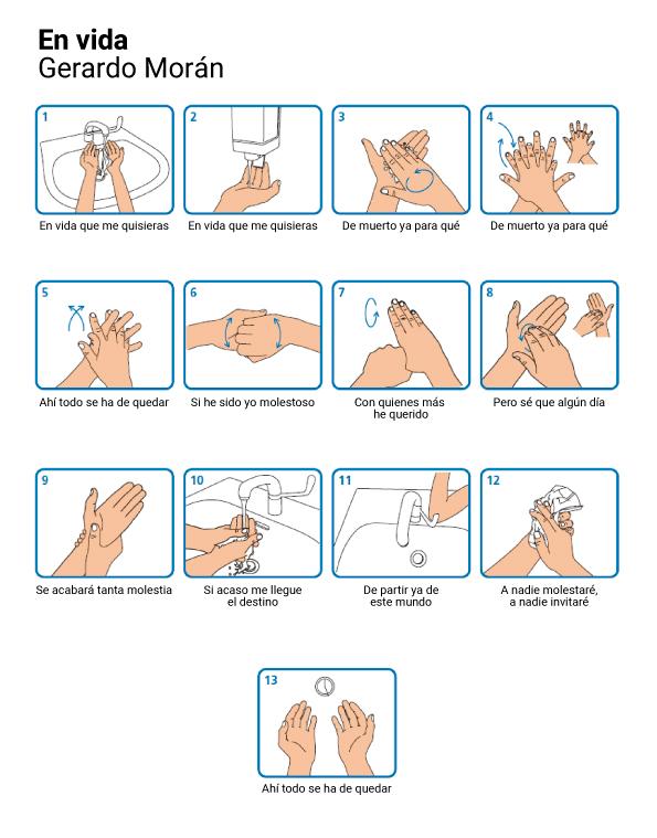 """""""En vida"""": más vale perder un minuto lavándose las manos que perder la salud."""