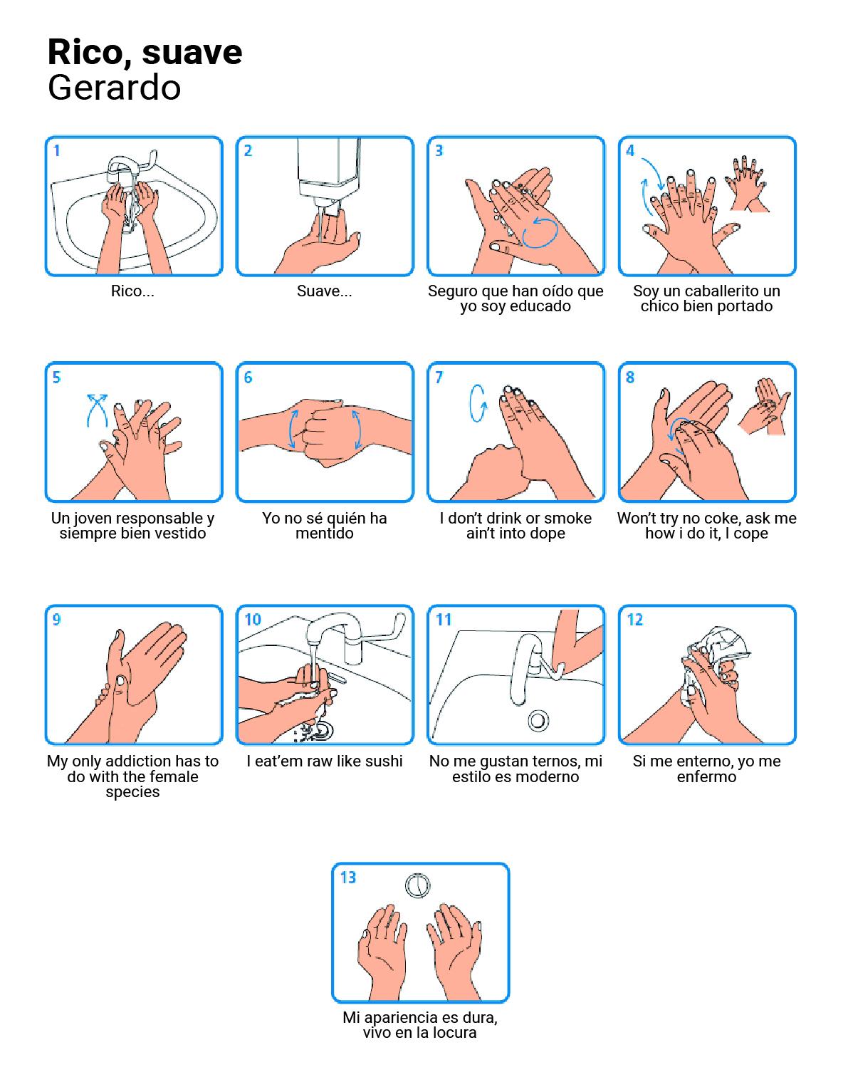 Para lavarse las manos con algo de ritmo, la canción de Gerardo.