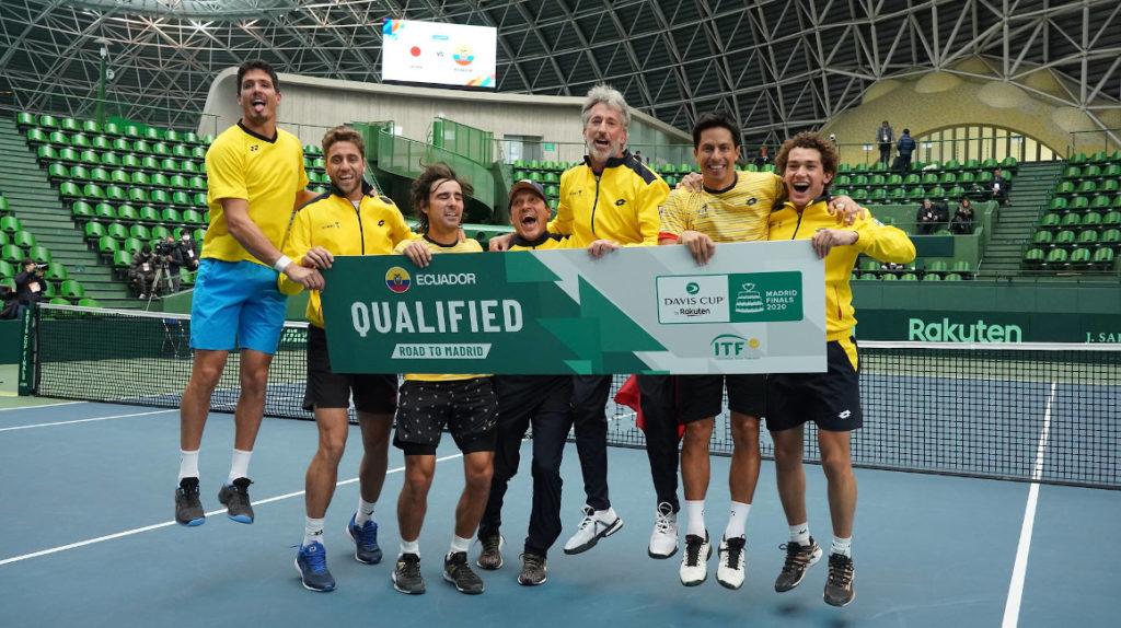 El mundo del tenis festeja la clasificación de Ecuador al Grupo Mundial