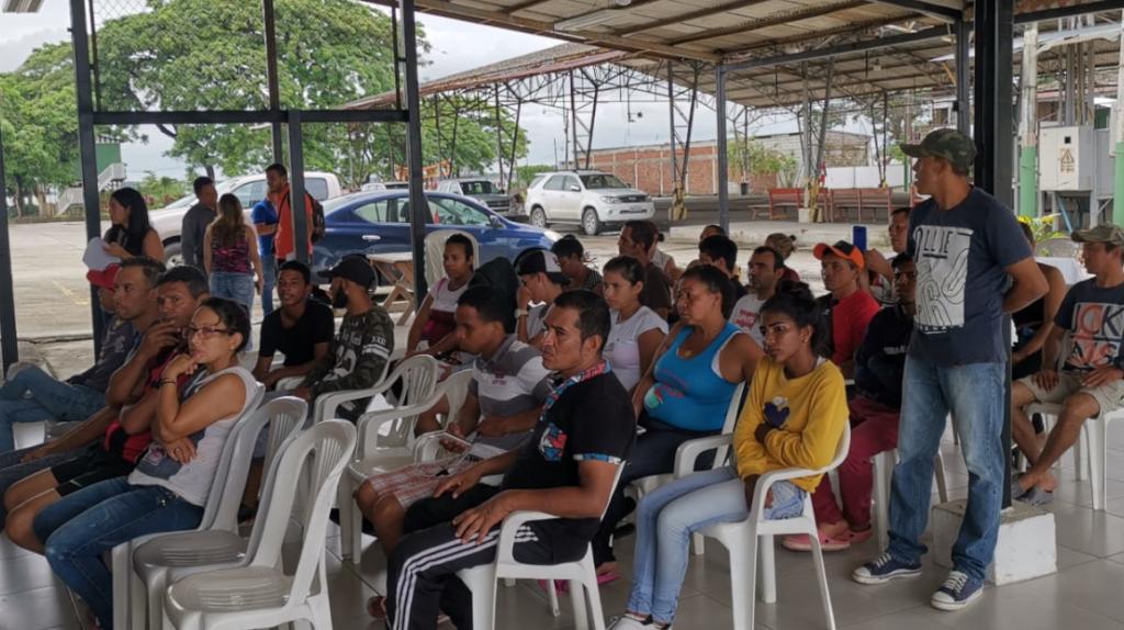 Refugio para venezolanos en Guayaquil recibe donación estadounidense
