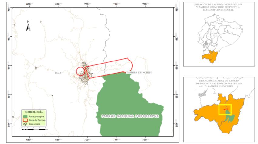 Mapa Abra de Zamora