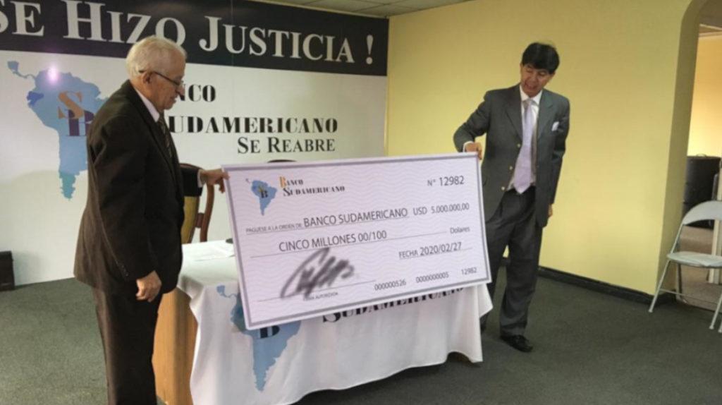 Banco Sudamericano quiere reabrir en medio de un proceso de liquidación