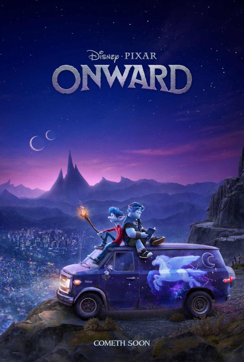 Poster oficial de 'Unidos' ('Onward') la nueva película de Disney Pixar.