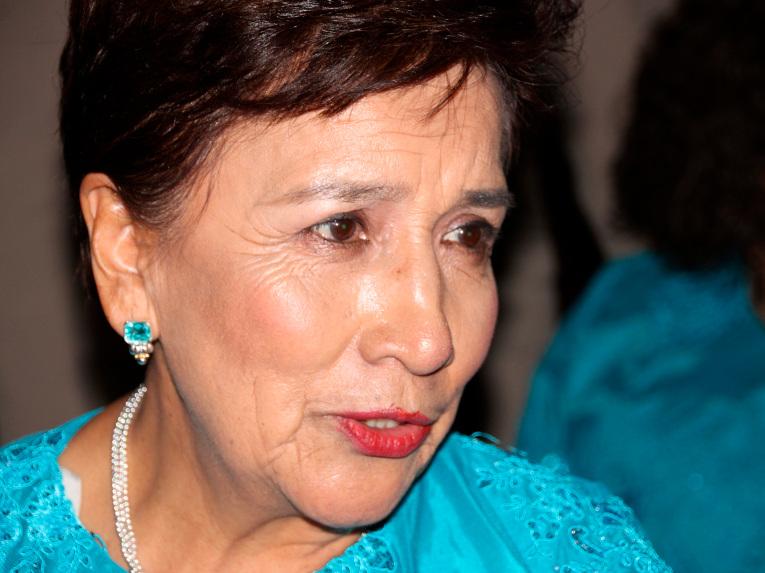 La presidenta de la Rondalla Ambateña, Mercedes Lozada.