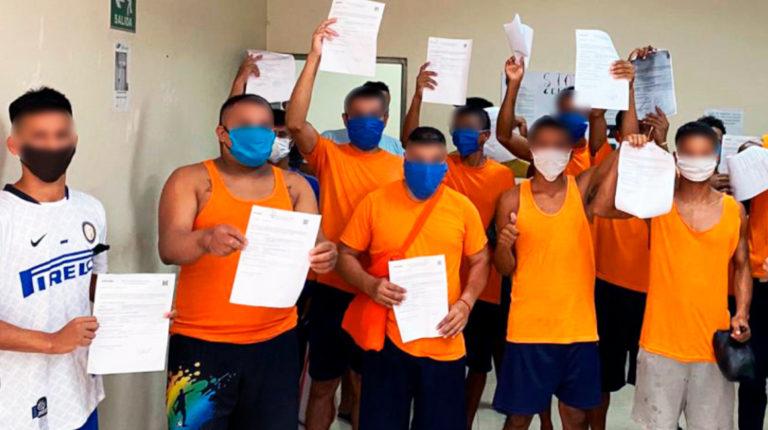 Un grupo de 16 presos de Manabí recuperaron su libertad por cumplimiento de pena, sustitución de la prisión preventiva y por cambio de régimen.