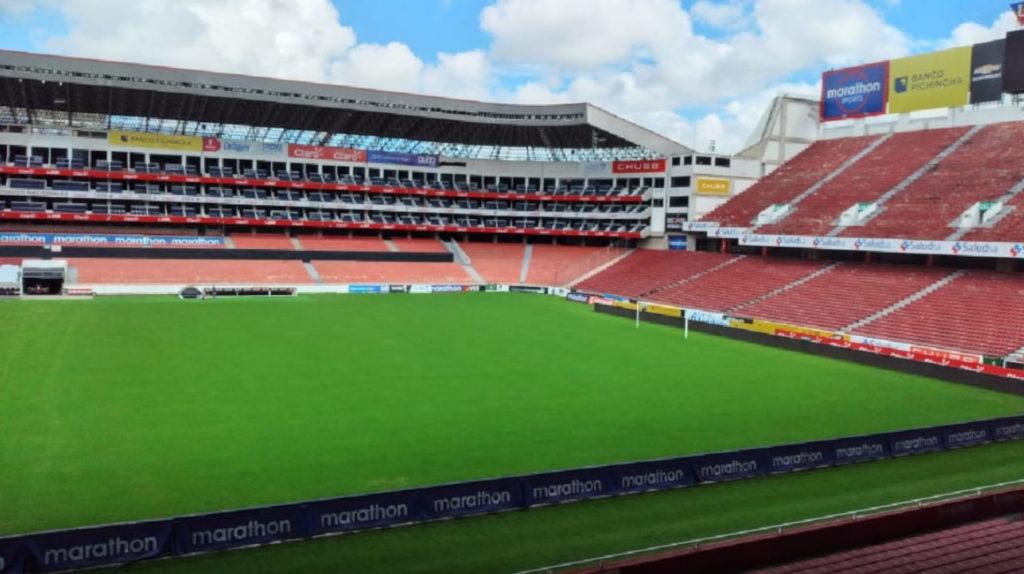 USD 86.000 costó la recuperación del césped del estadio de Liga