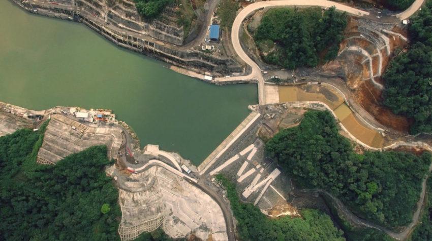 Imagen referencial de la Central Hidroeléctrica Coca Codo Sinclair tomada desde el aire, en 2016.
