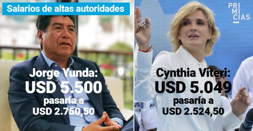 Estos serían los nuevos salarios de los alcaldes de Quito y Guayaquil, ante el anuncio del presidente Lenín Moreno.