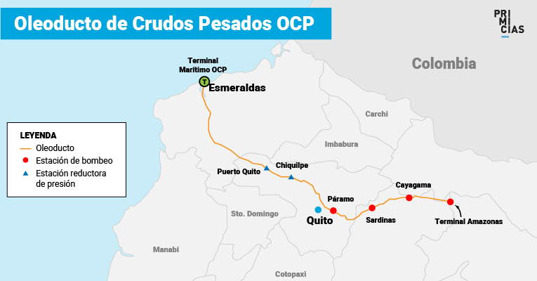Mapa del recorrido del OCP.