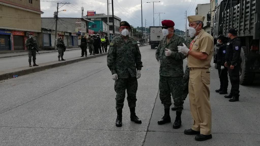 Fuerzas Armadas establecen 62 puntos de control en Guayas