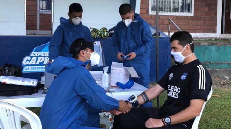 Emelec coronavirus prueba Rescalvo