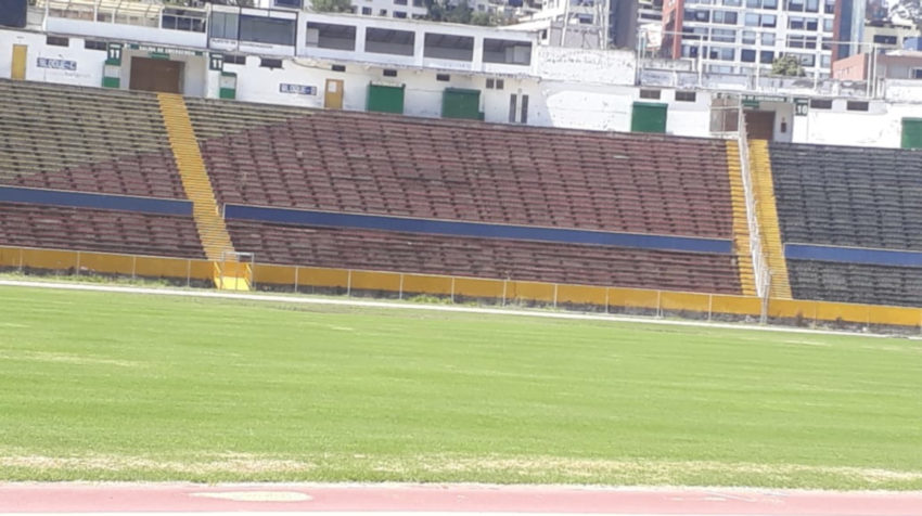 Los estadios del país entraron en mantenimiento aprovechando la paralización de la LigaPro. El estadio Atahualpa cumplió con un proceso de readecuación que incluye podar el césped dos veces por semana.