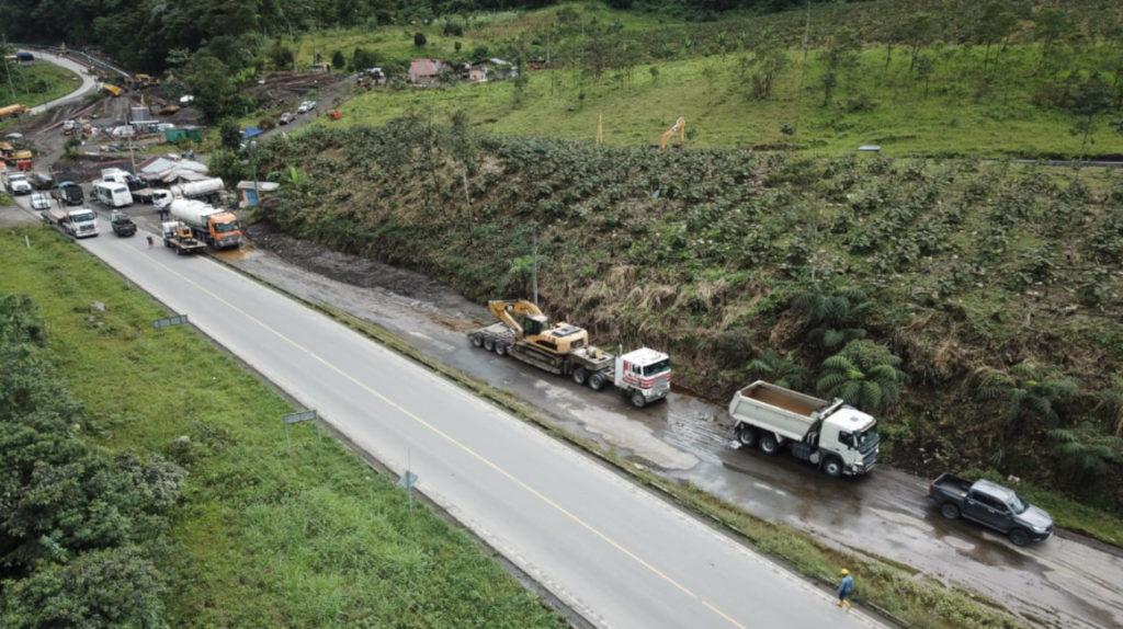 Tres opciones para tramo de la vía Quito-Lago Agrio que se afectará por la erosión