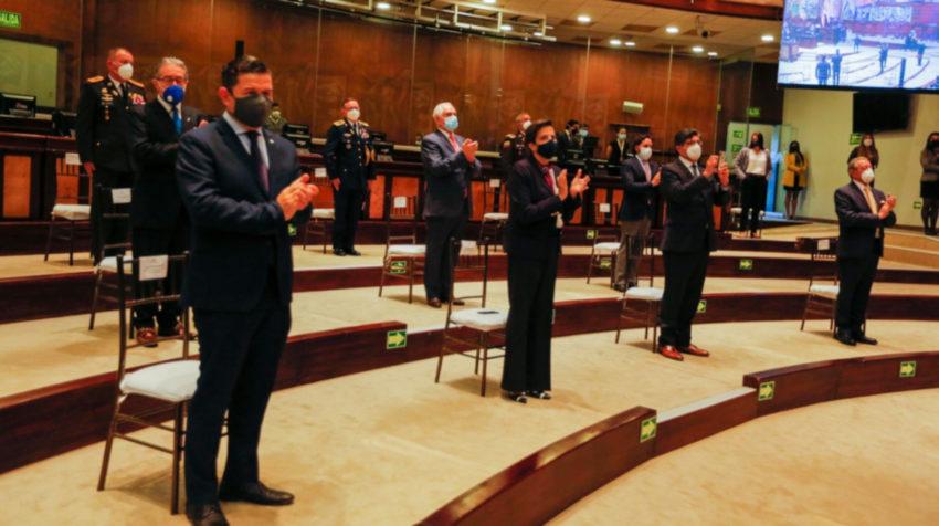 Los integrantes del Gabinete ministerial en la Asamblea Nacional, 24 de mayo de 2020.