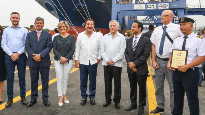 El último evento público en el que Cynthia Viteri y Jaime Nebot compartieron espacio fue el 17 de enero de 2020 en la inauguración del dragado del Puerto Principal.