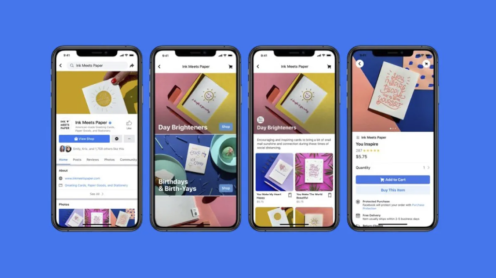 Shops, la nueva función de compras de Facebook