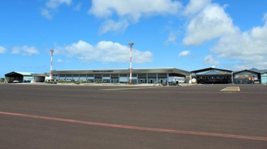 Foto del Aeropuerto de San Cristóbal en Galápagos, tomada el 12 de febrero de 2019.