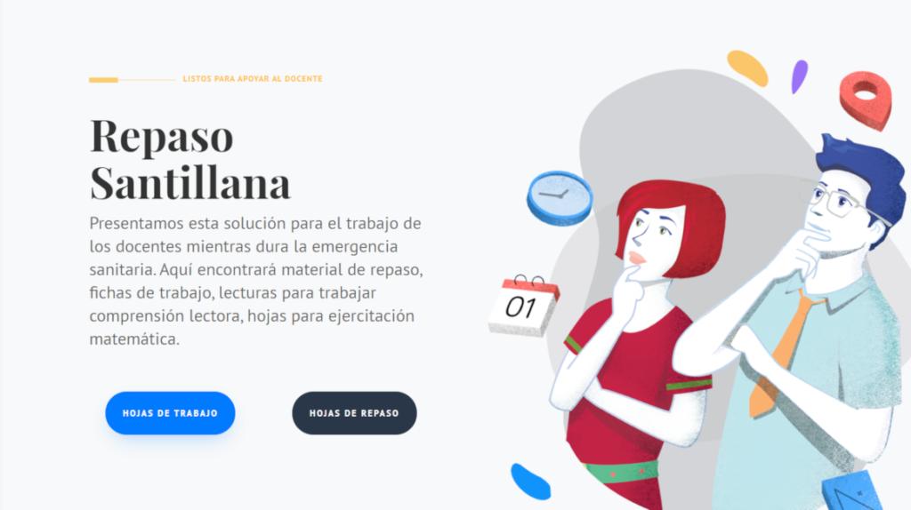 Santillana presenta dos plataformas virtuales para estudiar desde casa