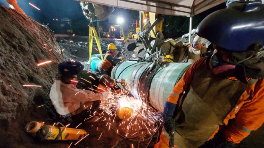OCP reinició bombeo de crudo tras rotura de oleoducto