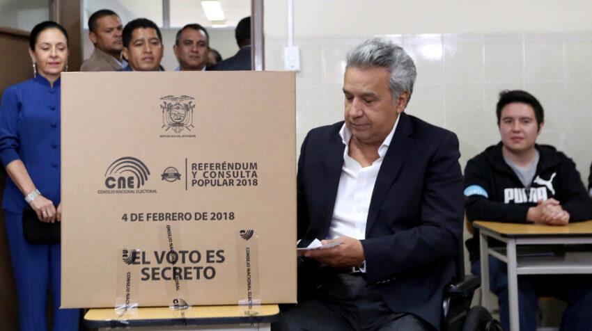 El 4 de febrero de 2018 el presidente Lenín Moreno ejerció su derecho al voto en la Universidad Técnica Equinoccial, para el Referéndum y la Consulta Popular.