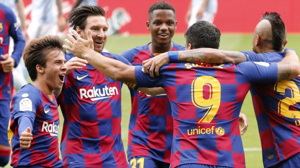 Con un doblete de Luis Suárez, el FC Barcelona empató frente a Celta