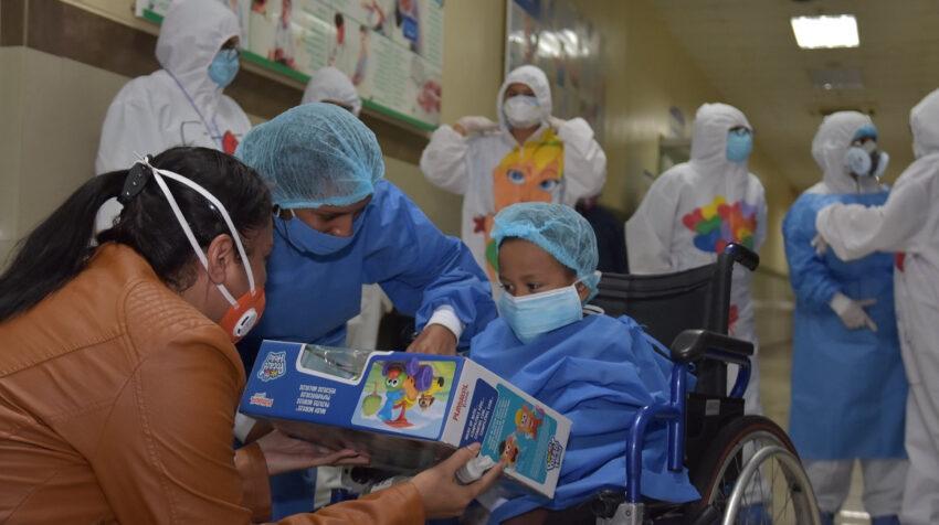 El hospital general de Babahoyo es una de las casas de salud que recibe pacientes menores de edad con Covid-19, el 26 de junio de 2020.