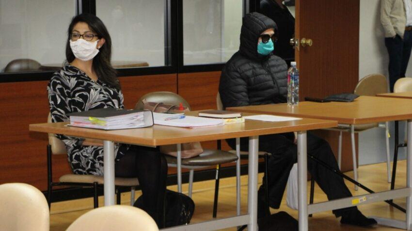 Norma Vallejo (con gafas), exasambleísta, durante el juicio del caso diezmos, el 25 de junio de 2020.