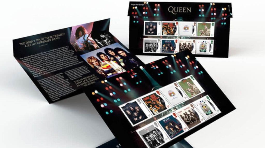 Queen tiene su serie de estampillas del correo británico