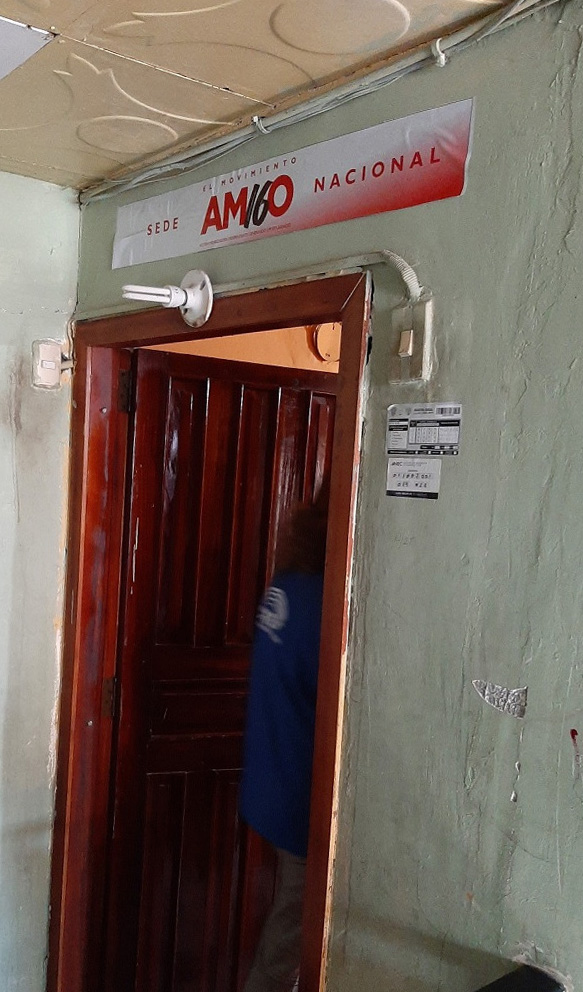La sede nacional del partido Amigo, en la ciudad de Esmeraldas.