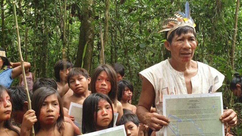 Un momento del  Kamunguishi, la declaración al mundo con la que los sáparas piden respeto a su vida y entorno.
