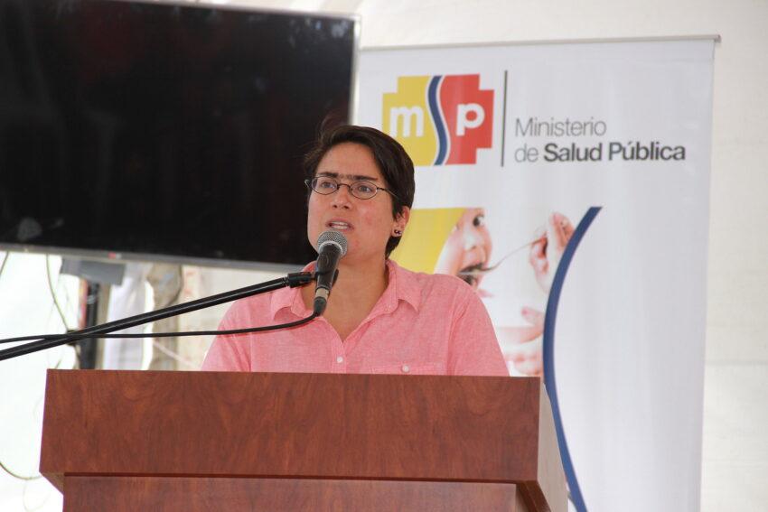 Carina Vance, como ministra de Salud,, inauguró el Centro de Salud Catamayo tipo C, en Loja, el 19 de agosto de 2016.