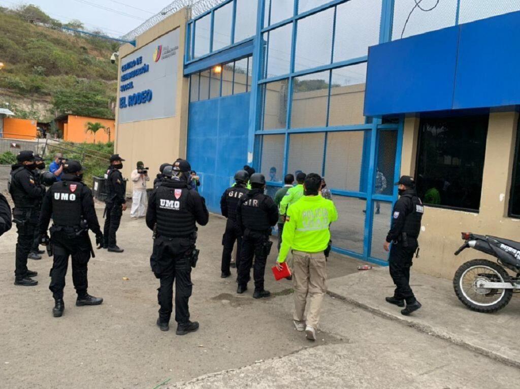 Nueve funcionarios de la cárcel El Rodeo de Manabí fueron detenidos