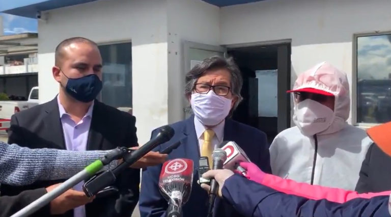 César Montúfar presentó una denuncia en contra del alcalde Jorge Yunda, 15 de junio de 2020.