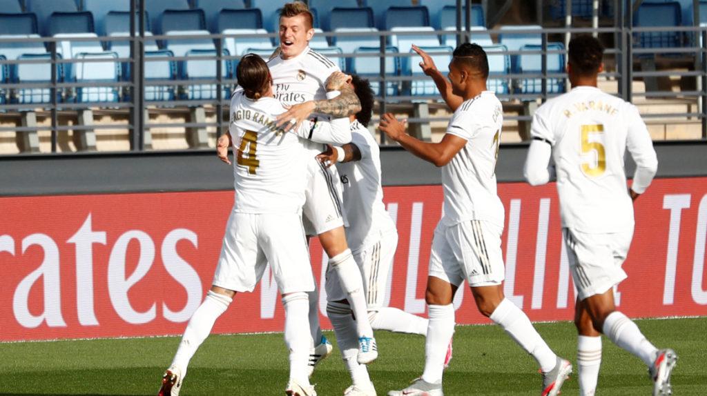 El Real Madrid vuelve con convincente triunfo frente al Eibar