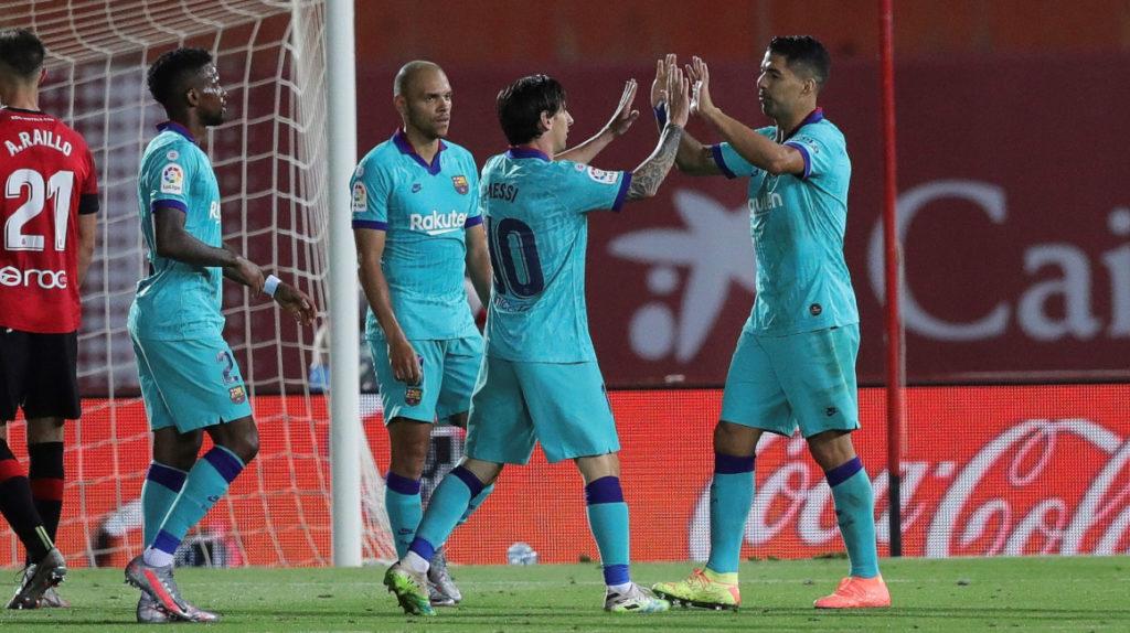 En el regreso de la Liga española, el FC Barcelona golea 4-0 al Mallorca