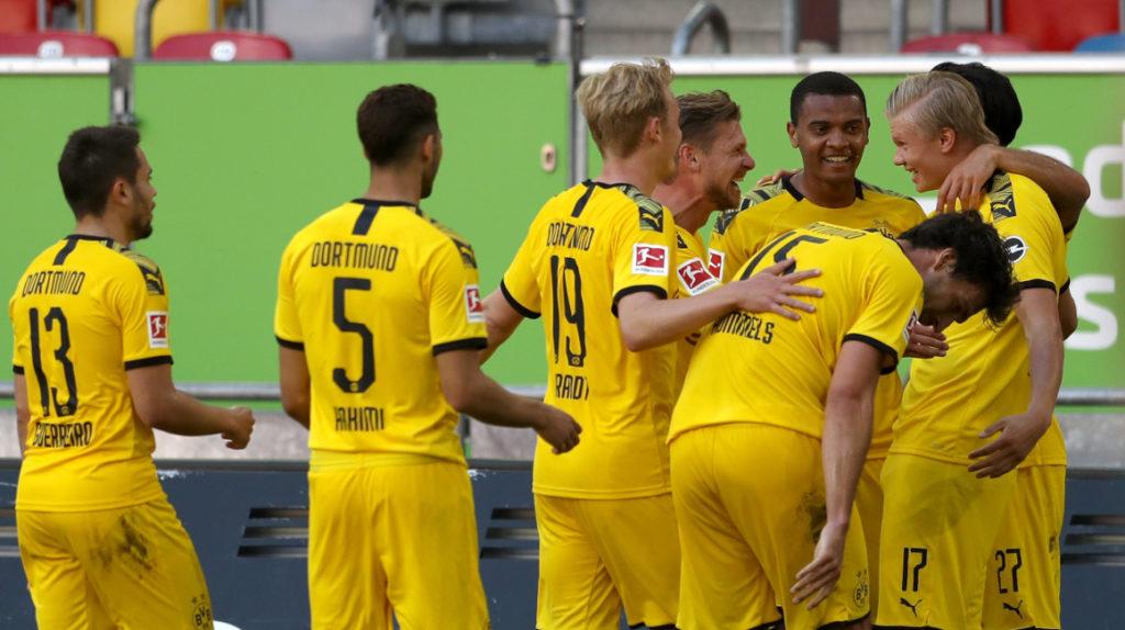 Un gol agónico de Haaland le da el triunfo al Dortmund sobre el Fortuna