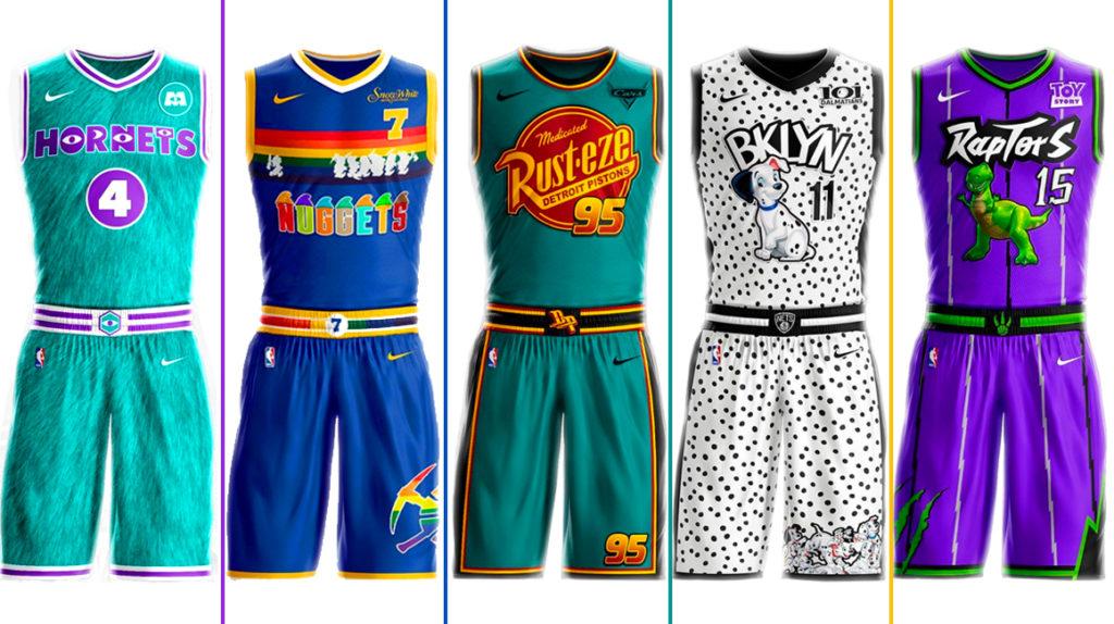 Una propuesta para que las camisetas de la NBA tengan diseños de Disney