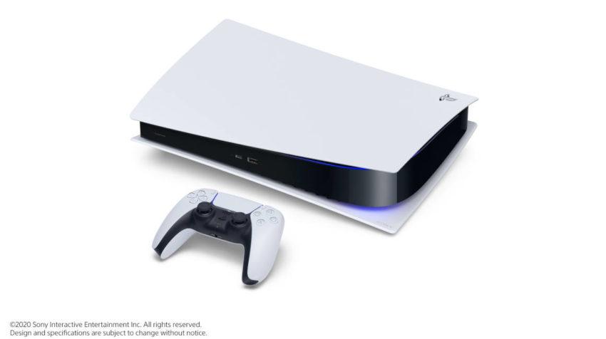 Diseño de la nueva consola PS5, lanzada el 11 de junio de 2020.