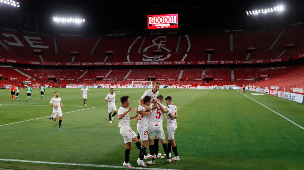 La Liga española regresa con la victoria del Sevilla frente al Betis