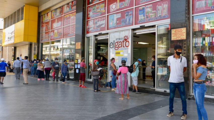 Locales comerciales en Guayaquil, el 20 de mayo de 2020.